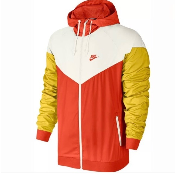 2a33531eadc2 NEW Nike Windbreaker Jacket Hoodie Orange XL